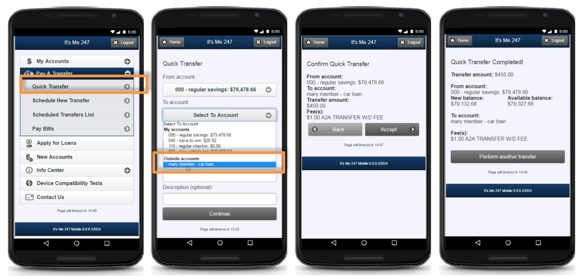 How to Complete A2A Transfers Using the Mobile App